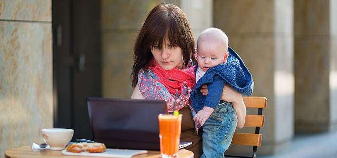Usklajevanje materinstva z delom v službi